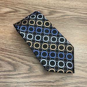 Michael Kors Black w/ Blue & Tan Dot Pattern Tie